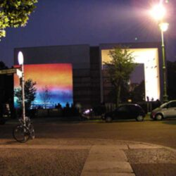 Daniela Butsch-Videoinstallation-Homage to Mark Rothko-projection-St. Canisius Kirche in Berlin- 2005