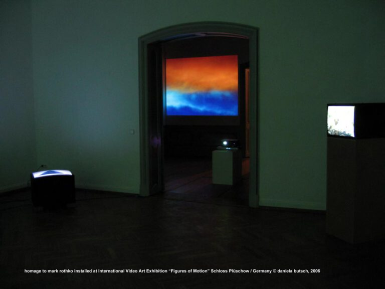 Daniela Butsch, homage to Mark Rothko, installed at the international video art exhibition, Figures of Motion, Schloss Plüschow-Germany 2006
