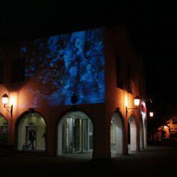 Daniela Butsch, Installation, Fassadenprojektion, Bad Aibling, Zwischenwasser, Videoinstallation,elektronische Skulptur,Moor, Wettbewerb Zwischenwasser, Bad Aibling 2004